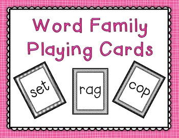Word Family Playing Cards
