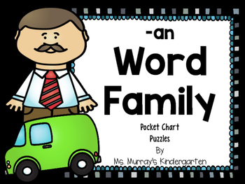 Word Family Pocket Chart Puzzles