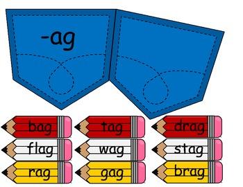 Word Family Pocket Sorts
