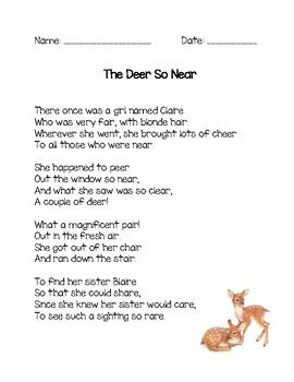 Word Family Poem - air, eer, ear