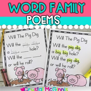 Word Family Poems for Shared Reading (21 Word Families)