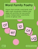 Word Family Poetry - Poems For Your Poetry Center, Set 1 - Short Vowels