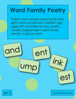 Word Family Poetry - Poems For Your Poetry Center, Set 3 - Ending Blends