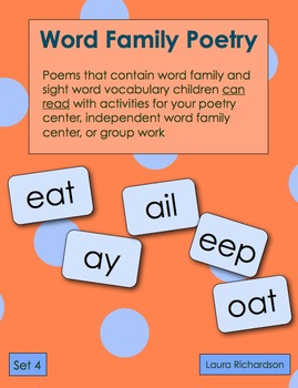 Word Family Poetry - Poems For Your Poetry Center, Set 4 - Vowel Teams