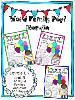 Word Family Pop! Bundle - Levels 1, 2, and 3