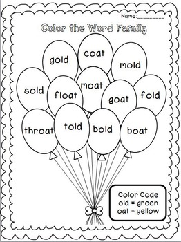 Word Family Pop! Level 2 - Long Vowel Word Families