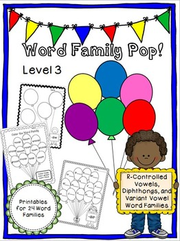 Word Family Pop! Level 3 - R-Controlled Vowels, Diphthongs