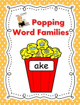 Word Family Popcorn