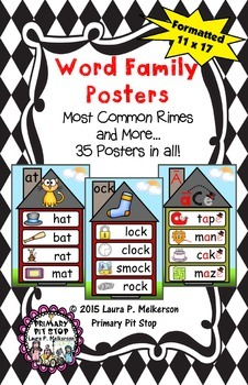 Word Family Poster Set - Most Common Rimes and More!