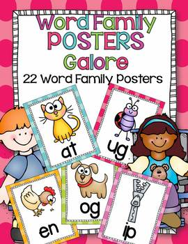 Word Family Posters Galore-22 Word Family Posters