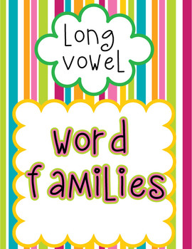 Word Family Posters - Long Vowel (stripe design)