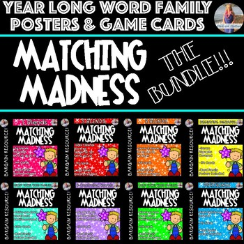 Word Family Posters & Matching Game Cards!