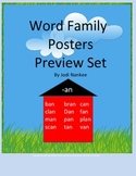 Word Family Posters Preview Set
