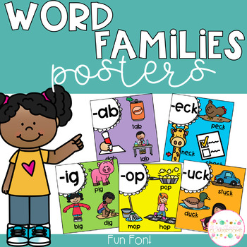Word Family Posters (Rainbow)