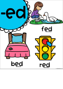 Word Family Posters (Rainbow Pop)