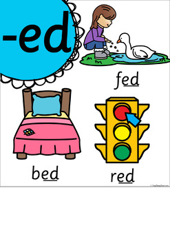Word Family Posters - Sassoon Font (Rainbow Pop)