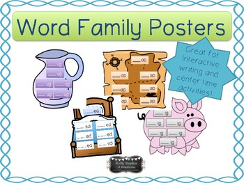 Word Family Posters and Center Activity