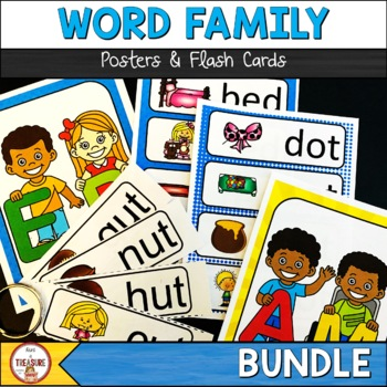 Word Family Posters and Flash Cards BUNDLE
