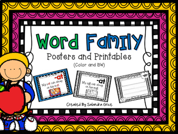Word Family Posters and Printables