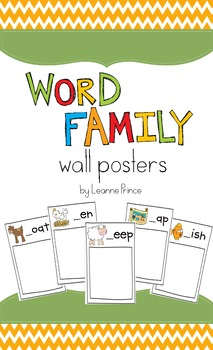 Word Family Posters {display word families in your classroom!}