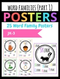 Word Family Posters for Short and Long Vowels Grade JK, K,