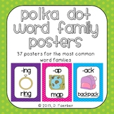 Word Family Posters for the 37 Most Common Rimes in Polka Dots