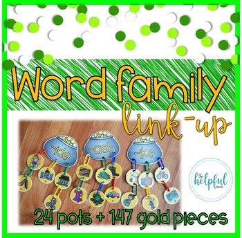 Word Family Pots of Gold