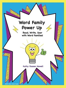 Word Family Power Up - Read, Write, Soar with Word Families!