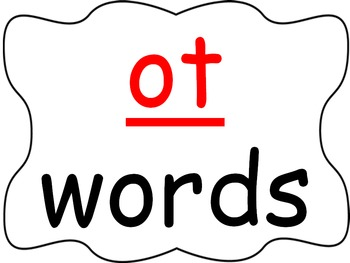 Word Family PowerPoint -ot