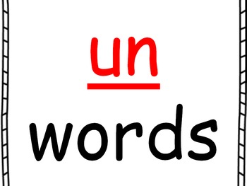 Word Family PowerPoint -un