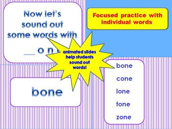Word Family PowerPoints Long Vowels 5-in-1 Bundle  for K, 1st or 2nd CCSS