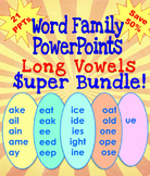 Word Family PowerPoints Long Vowels Super Bundle