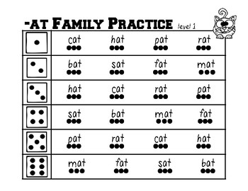 Word Family Practice -A Families