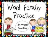Word Family Practice I