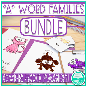 Word Family Activities for A Words