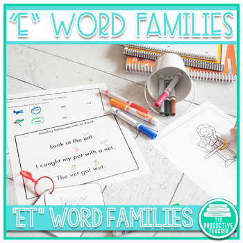 Word Family Practice -et Words