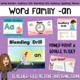 Word Family Presentation -an