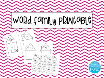 Word Family Printable Booklet