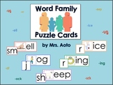 Word Family Puzzle Cards