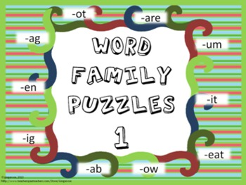 Word Family Puzzles #1