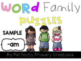Word Family Puzzles FREEBIE