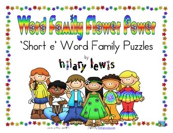 Word Family Puzzles - Flower Power - Short E