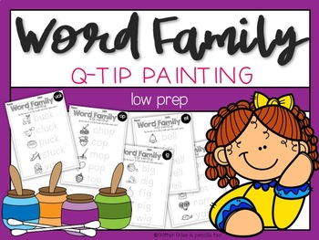 Word Family Q-Tip Painting