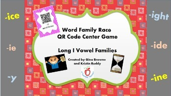 Word Family Race QR Code Center Game - Long I Vowel Families