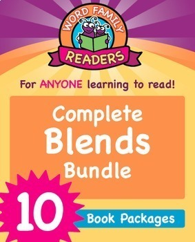 Word Family Readers - Blends: 10 Book Bundle