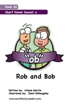 Word Family Readers Book #20 Rob and Bob