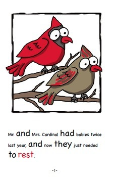 Word Family Readers Book #33 The Cardinals' Christmas