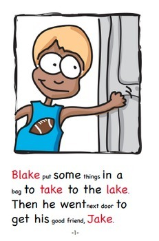 Word Family Readers Book #36 Blake and Jake at the Lake