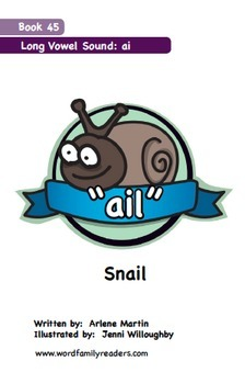 Word Family Readers Book #45 Snail