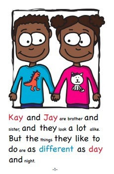 Word Family Readers Book #46 Kay and Jay